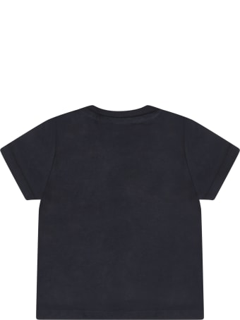 Hugo Boss Blue T-shirt For Baby Boy With White Logo