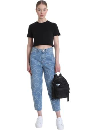 Chiara Ferragni Jeans In Cyan Denim