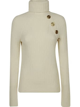 Balmain Turtleneck Rib Embellished Sweater