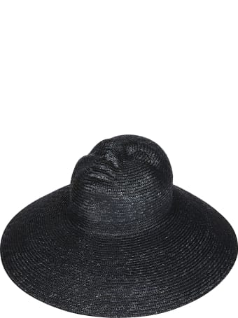 Flapper Black Straw Hat