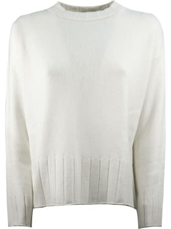 Antonelli White Wool Sweater