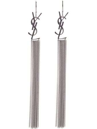 Saint Laurent Monogramm Chain Earrings