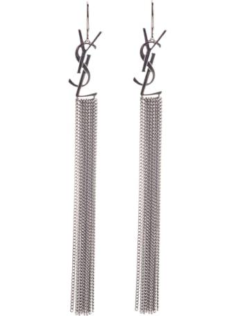 Saint Laurent Monogramm Chain Earrings