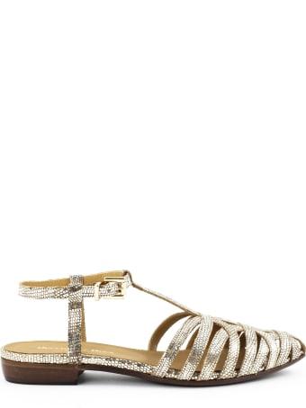 Duccio del Duca Laminated Leather Sandals