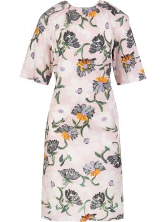 Marni Floral-print Mid-length Dress