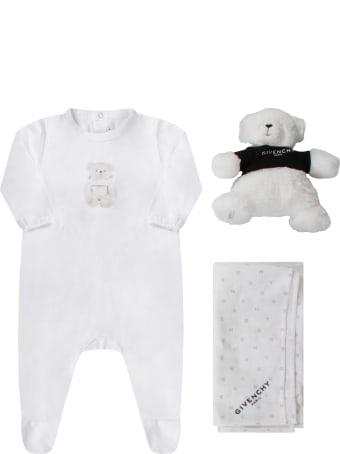 Givenchy White Babykids Set With Bear