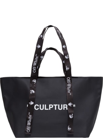Off-White Nylon Shopper With Logo