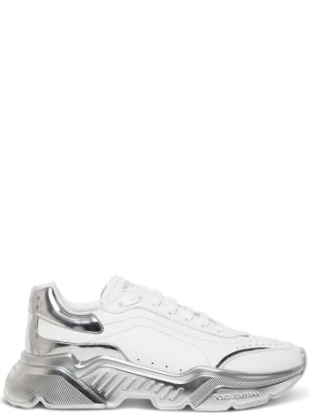 Dolce & Gabbana Leather Sneakers With Laminated Sole