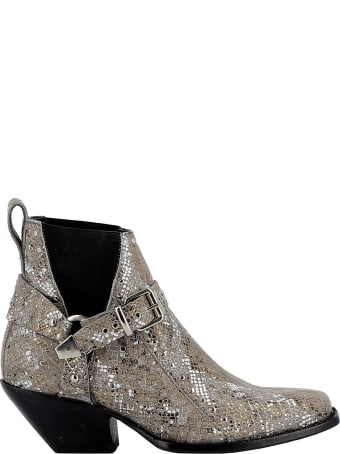 Mexicana Woman's Multicolor Glitter Ankle Boots