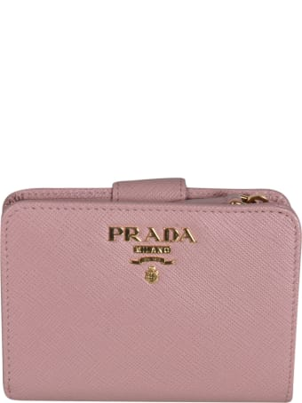 Prada Magnetic Logo Plaque Wallet