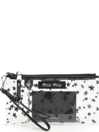 Miu Miu Stars Pvc Pouch