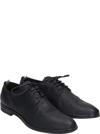 Officine Creative California 005 Lace Up Shoes In Black Leather