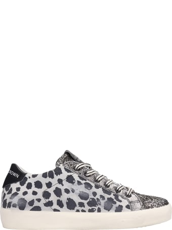 Leather Crown Animalier Fabric Sneakers