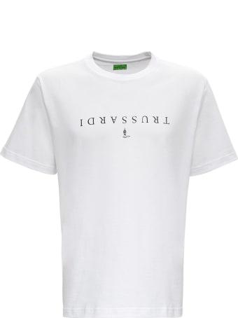 Trussardi Oversized Cotton T-shirt With Logo Print