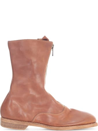 Guidi Front Zip Army Boots Sole Leather