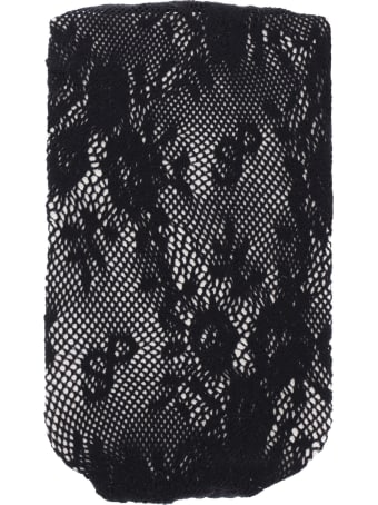 Saks Potts Lucy Stretch Lace Tights With Logo