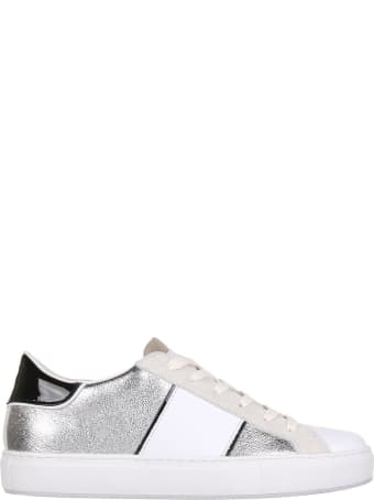 Crime london Sneaker In Silver Leather