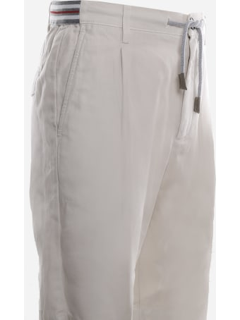 Eleventy Bermuda Jogger Made Of Linen And Cotton