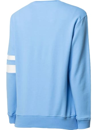Alberta Ferretti Light Blue Stretch-cotton Sweatshirt
