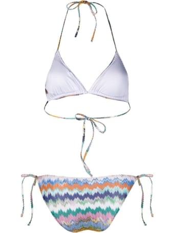 Missoni Multicolor Zig Zag Print Bikini