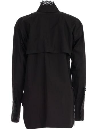 Y's Shirt L/s Collar Lace