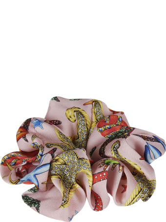 Versace Printed Elastic Scrunchie