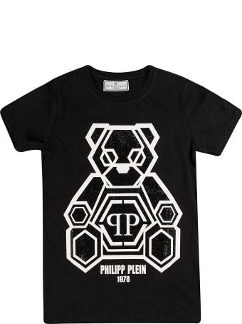 Philipp Plein Junior Ss Teddy Bear Round Neck T-shirt