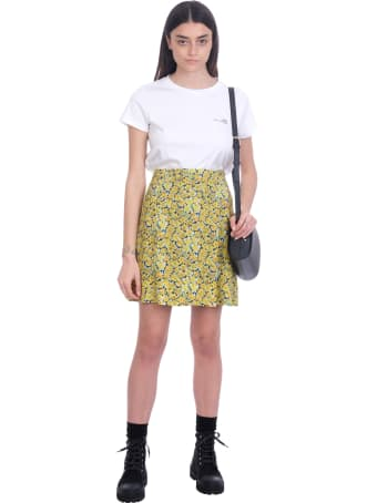 A.P.C. Lucy Skirt In Yellow Cotton