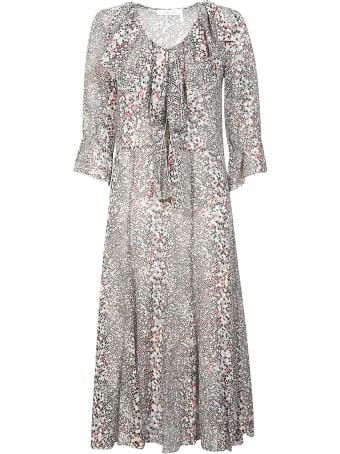 See by Chloé Ruffled Printed Long Dress