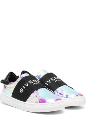 Givenchy Iridescent Urban Street Kid Sneakers With Band
