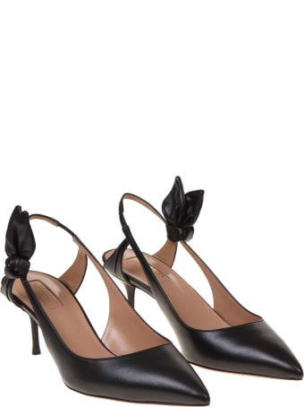 Aquazzura Drew Pump Decolletè In Black Leather