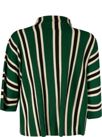 Aspesi High-neck Striped Sweater