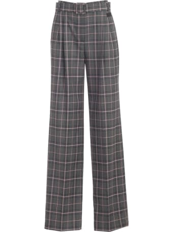 Be Blumarine Pants Checked W/pences And Belt