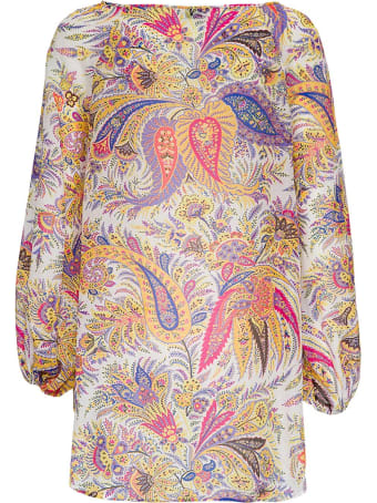 Etro Floral Shirt In Cotton Blend