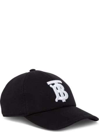 Burberry Cotton Hat With Logo Embroidery