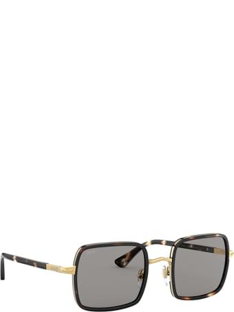Persol Persol Po2475s Gold & Striped Browne & Smoke Sunglasses