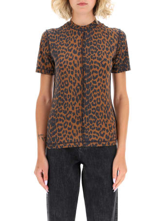 Ganni Leopard T-shirt