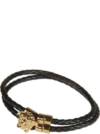 Versace Medusa Head Plaque Rope Bracelet
