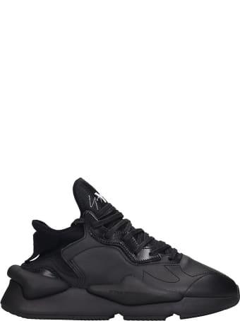 Y-3 Kaiwa Sneakers In Black Leather