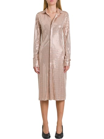 Bottega Veneta Dress In Embellished Satin Jersey