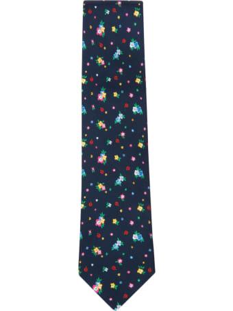 Eddy Monetti Flower Print Neck Tie