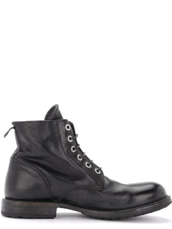 Moma Bandolero Ankle Boot In Black Leather