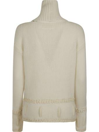 Ermanno Scervino High-neck Embroidered Sweater