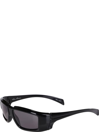 Rick Owens Black Nylon Sunglasses