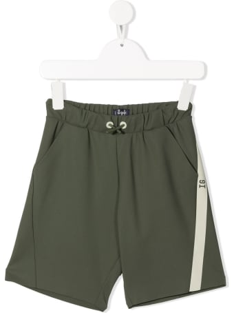Il Gufo Green Bermuda Shorts With Side Strip Detail