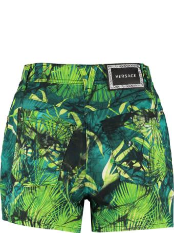 Versace Printed Denim Shorts