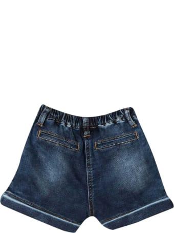 Monnalisa Blue Denim Shorts Baby Monnalisa