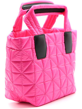 VeeCollective Small Pink Tote Vee Bag In Recycled Nylon