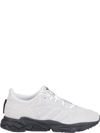 Craig Green White Leather And Cavas Sneakers