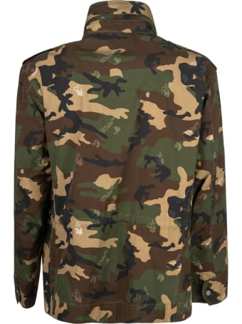 Off-White Ow Logo Camo Field Jacket
